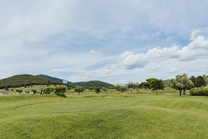 Golf course in Tuscany countryside