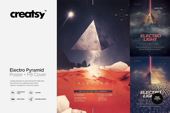 Electro Pyramid 3 Posters
