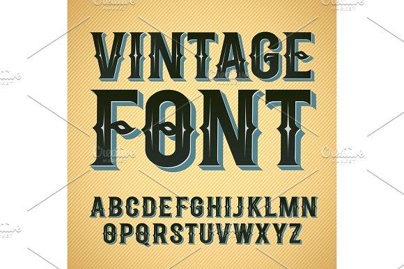 Vector Vintage Label Font