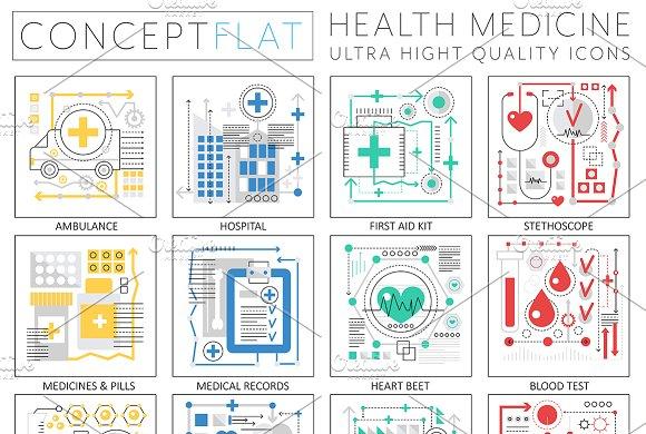 Medicine Health Concept Icons