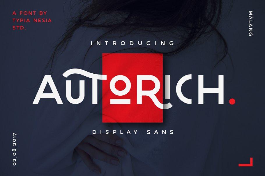 6ecb4be3f7d Autorich Sans (30% OFF) ~ Sans Serif Fonts ~ Creative Market