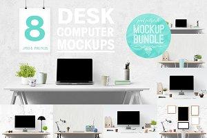 computer mockup | desk mockup bundle