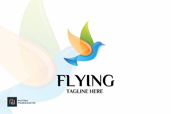 Flying Bird Logo Template