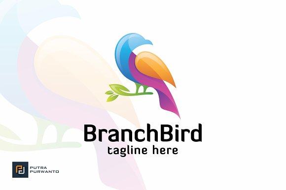 Branch Bird Logo Template