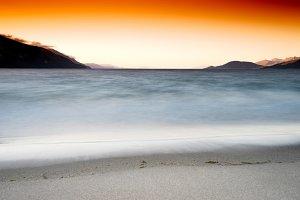 Tidal waves long exposure landscape background