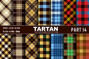 Seamless  Tartan Pattern Part - 14