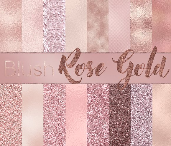 BLUSH & ROSE GOLD Digital papers