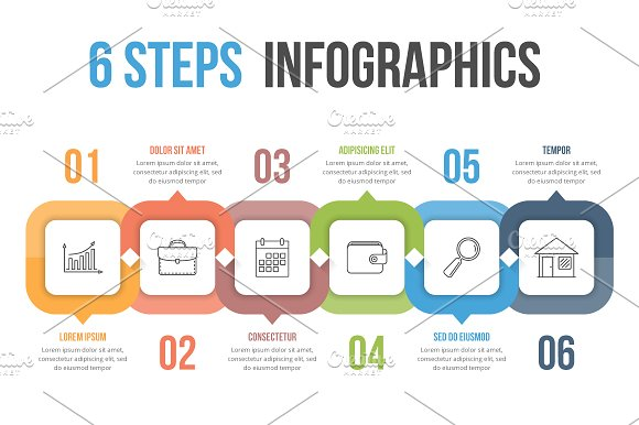 Six Steps Infographics