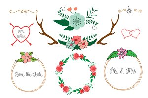 Wedding floral elements / Wreath