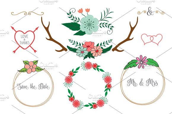 Wedding Floral Elements Wreath
