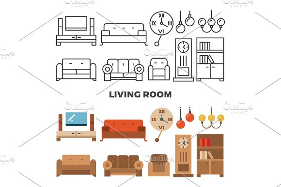 Living Room Furniture And Accessories Collection