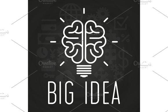Big Idea Concept Chalkboard Poster