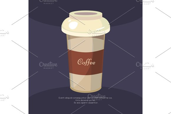 Take Away Coffee Mug Poster Cafe Poster Design