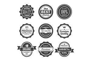 Vintage retro labels