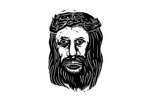 Christ Savior Head with Thorns