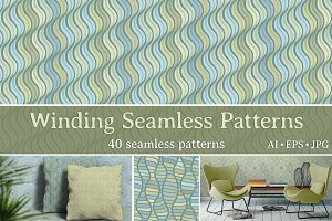 Winding Seamless Patterns
