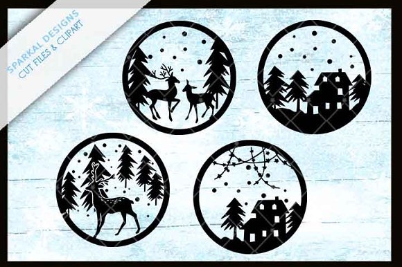 Christmas Snow Scenes For Ornaments