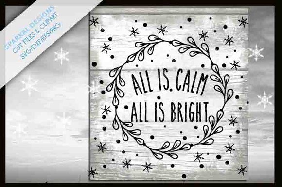 All Is Calm Christmas Graphic SVG