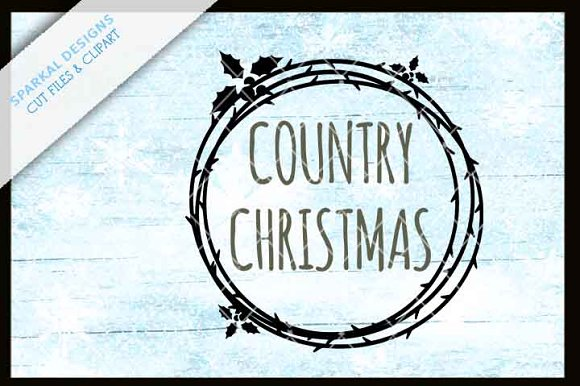 Country Christmas SVG Cutting File