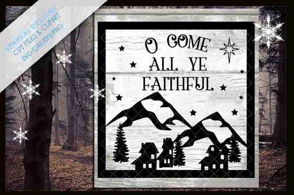 O Come All Ye Faithful Christmas Svg