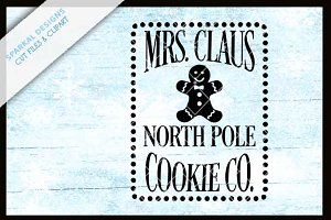 Mrs. Klause Cookie Co. SVG File