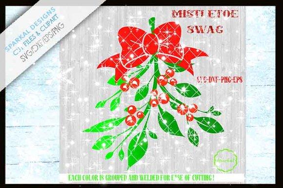 Mistletoe Swag Christmas Clipart