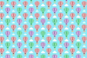 Hot Balloons Cute Pattern Design