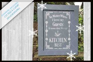 Kitchen Sign Digital Stencil SVG