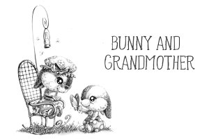 Bunny and grandmother