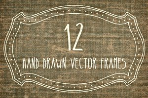Hand Made Vector Frames Pack 1