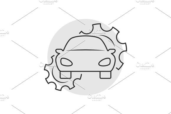 Car Repair Outline Icon