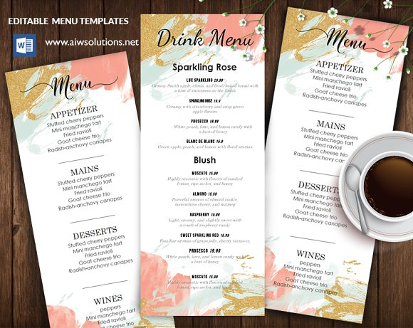 Menu Template Id31