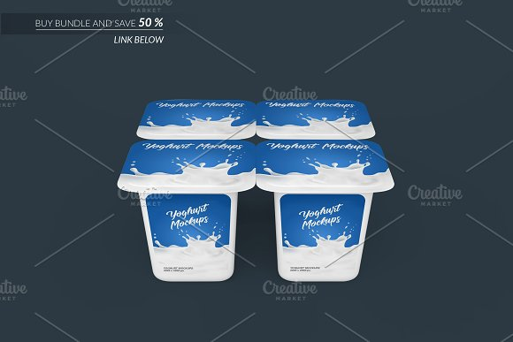Yoghurt Packaging Mockup 5