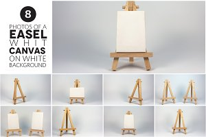 8 Photos of Easel with Canvas