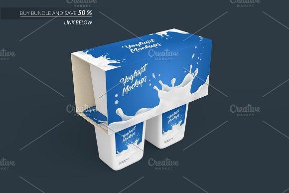 Yoghurt Packaging Mockup 6