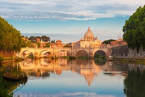 Saint Peter Cathedral in the morning, Rome, Italy.