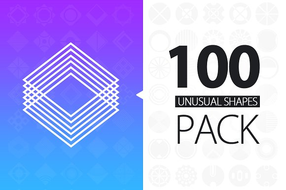100 Unusual Shapes Pack