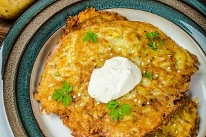 Potato pancakes homemade