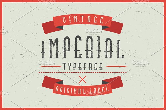 Imperial Label Typeface