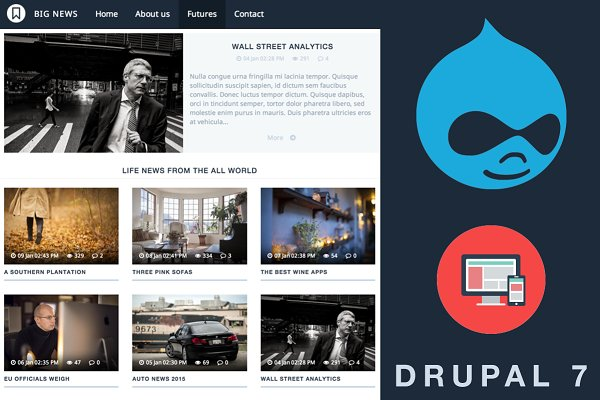 Drupal Themes: MarkVI - VA BigNews