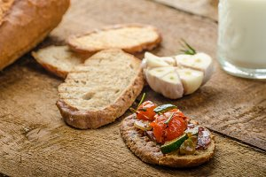 Bruschetta with Mediterranean vegetables