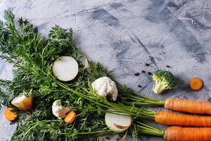 Vegetables for cooking soup