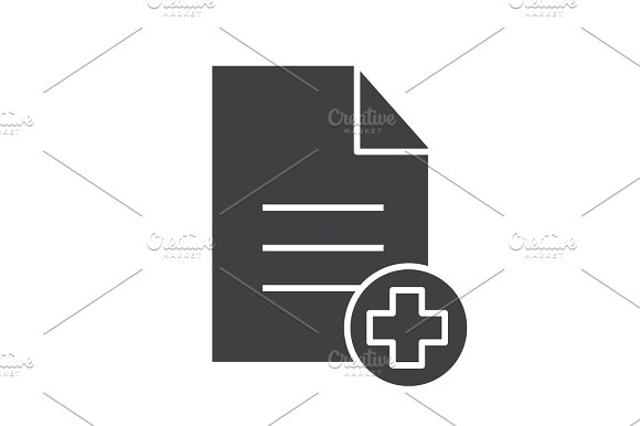 Patient card glyph icon