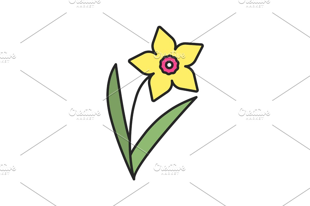 Daffodil color icon in Icons