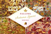 Falling Autumn Leaves with Text