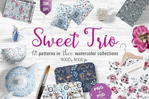 Sweet Trio - pattern set