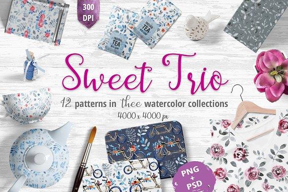 Sweet Trio Pattern Set