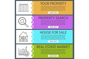 Real estate web banner templates set