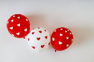St. Valentine balloons with heart