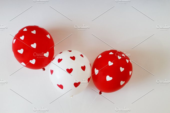St. Valentine balloons with heart - Holidays